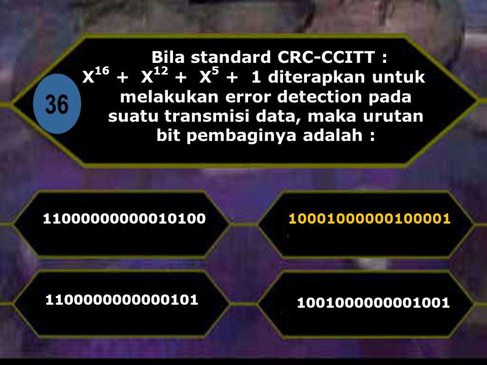 Bila standard CRC-CCITT :