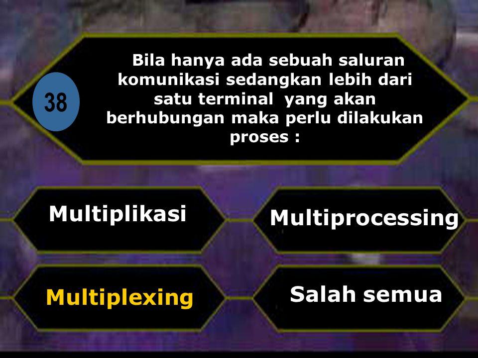 38 Multiplikasi Multiprocessing Salah semua Multiplexing