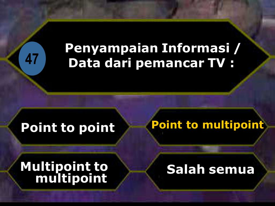 Penyampaian Informasi / Data dari pemancar TV :