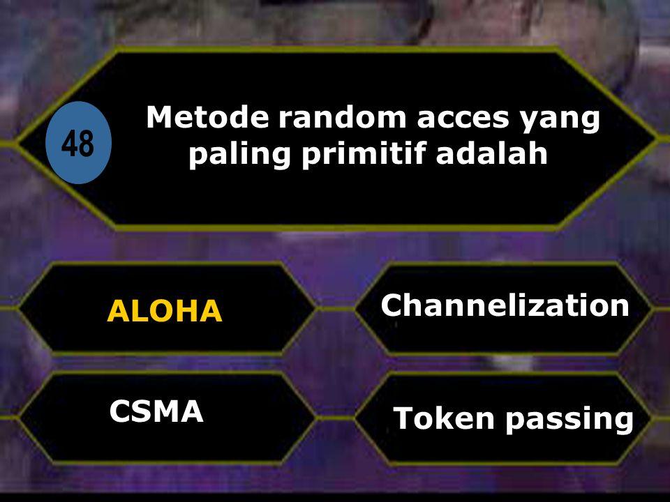Metode random acces yang paling primitif adalah