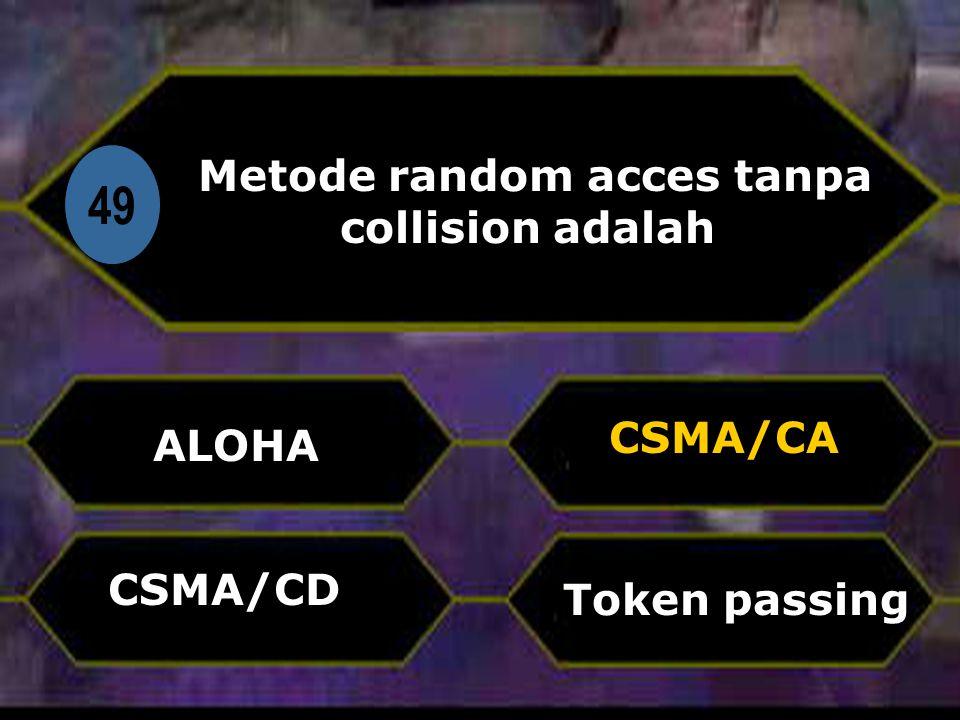 Metode random acces tanpa collision adalah