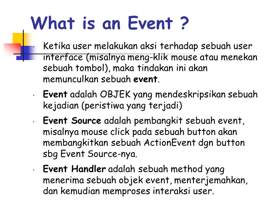 What is an Event