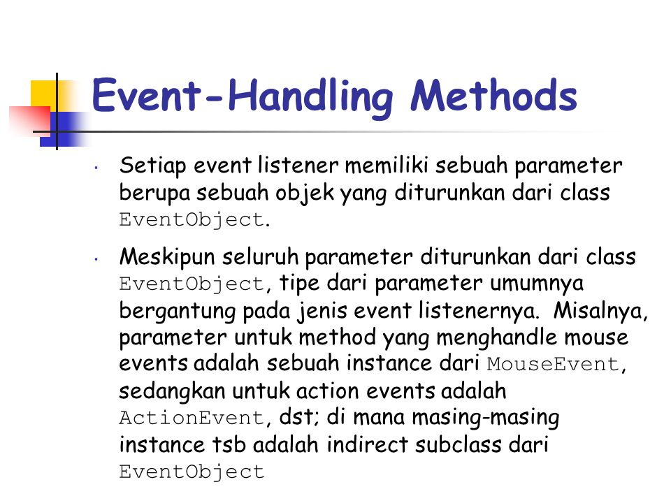 Event-Handling Methods