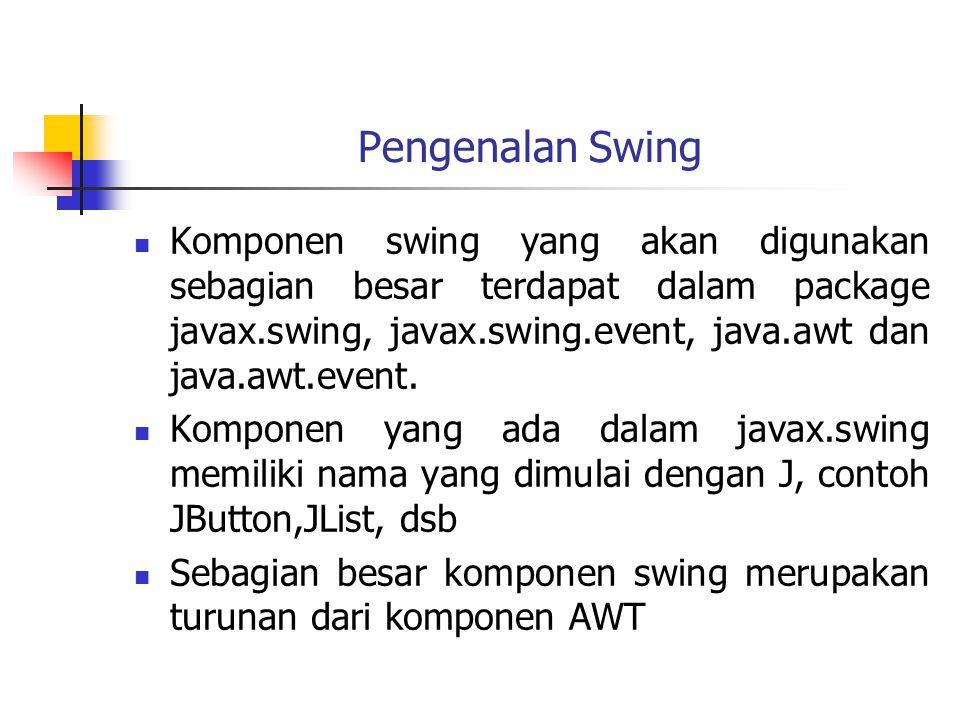 Pengenalan Swing