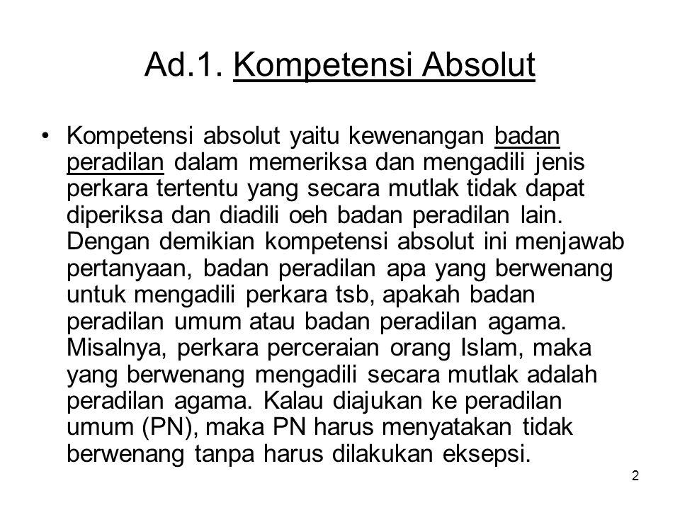 Ad.1. Kompetensi Absolut