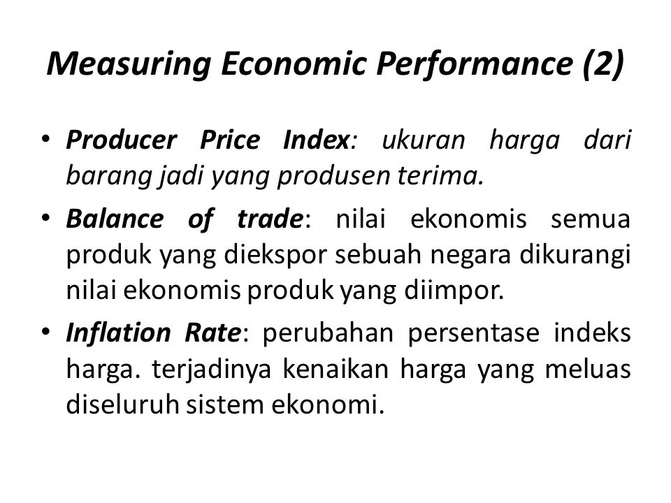 Measuring Economic Performance (2)