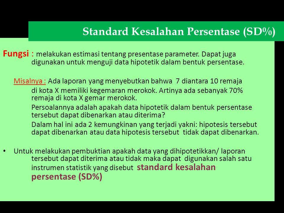 Standard Kesalahan Persentase (SD%)