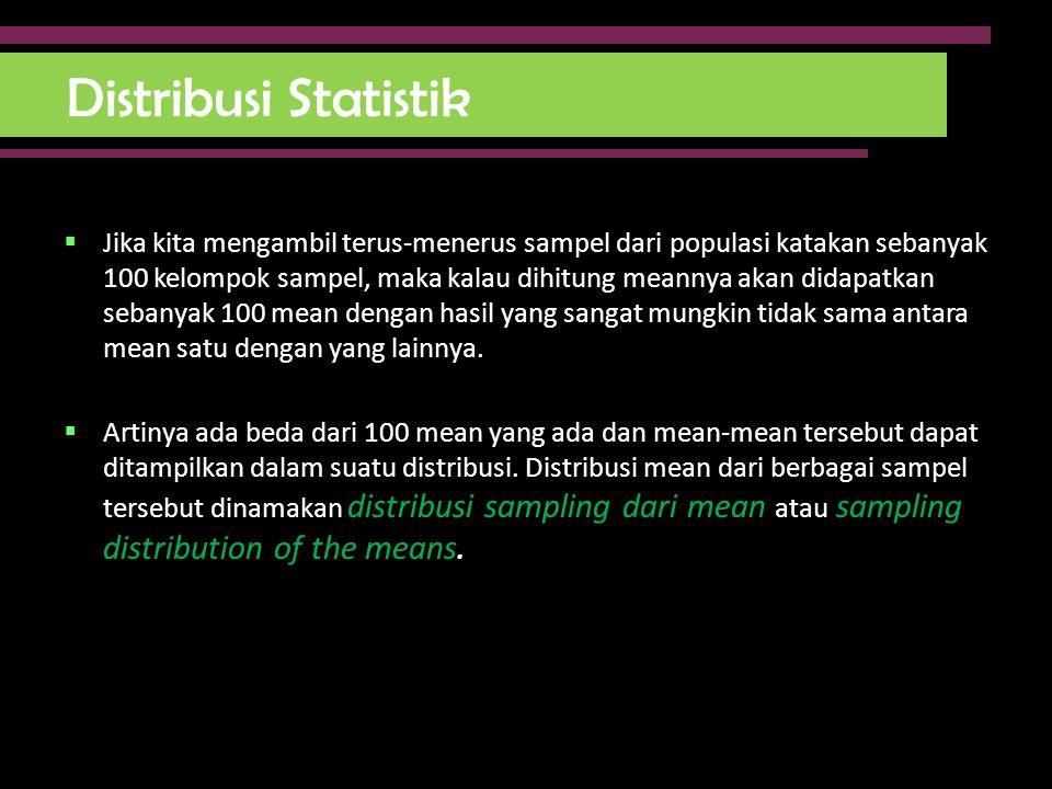 Distribusi Statistik