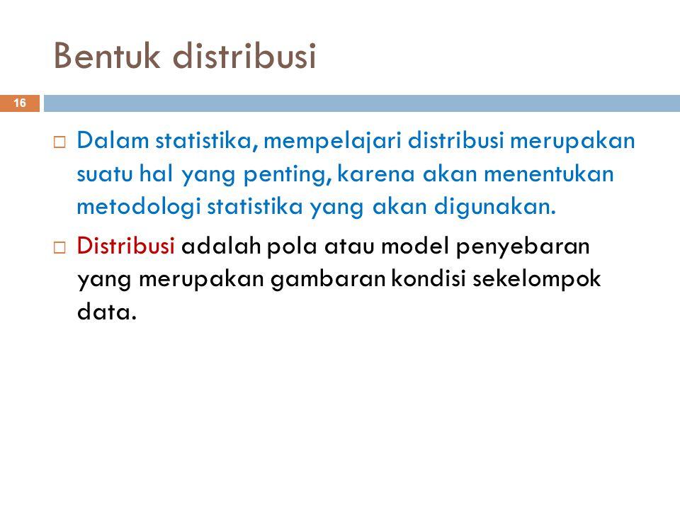Bentuk distribusi