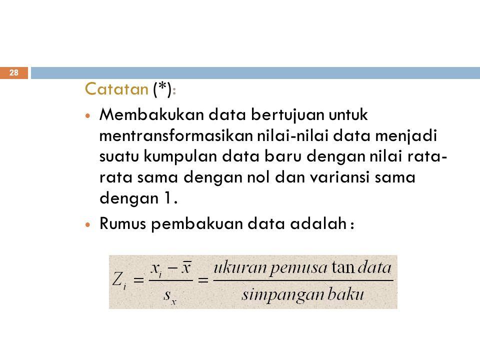 Catatan (*):