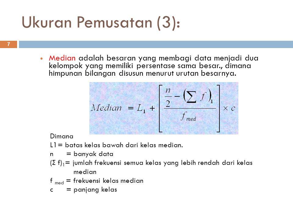 Ukuran Pemusatan (3):