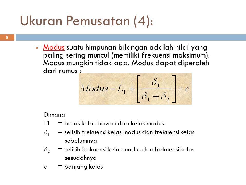 Ukuran Pemusatan (4):