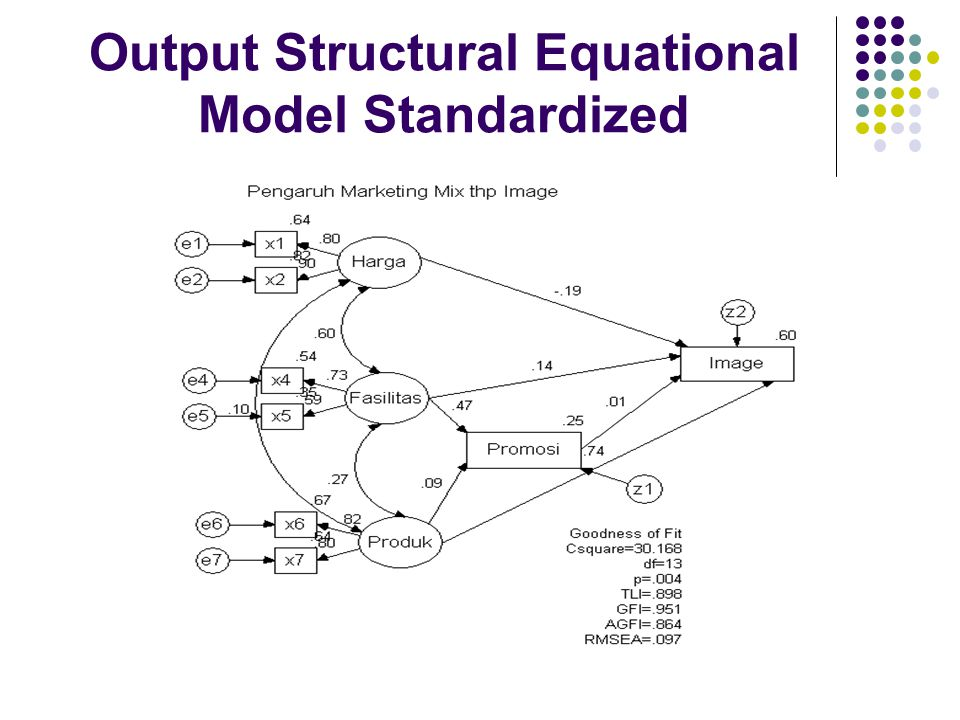 Output Structural Equational Model Standardized