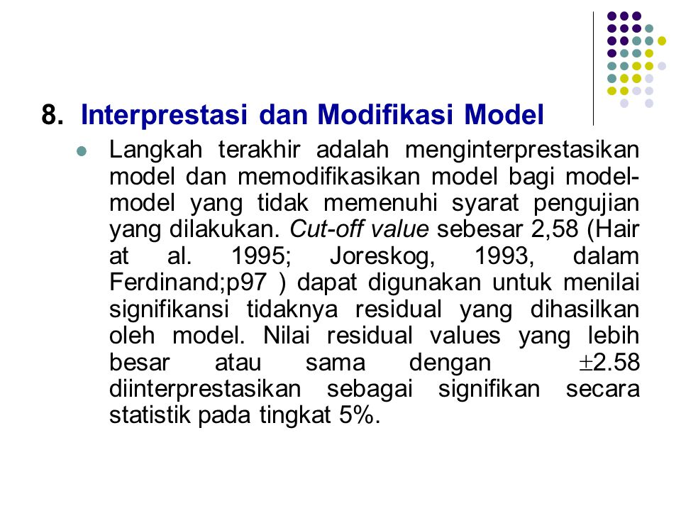 Interprestasi dan Modifikasi Model
