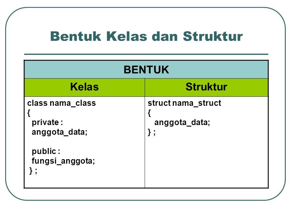 Bentuk Kelas dan Struktur