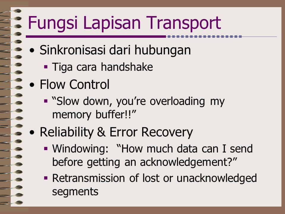Fungsi Lapisan Transport
