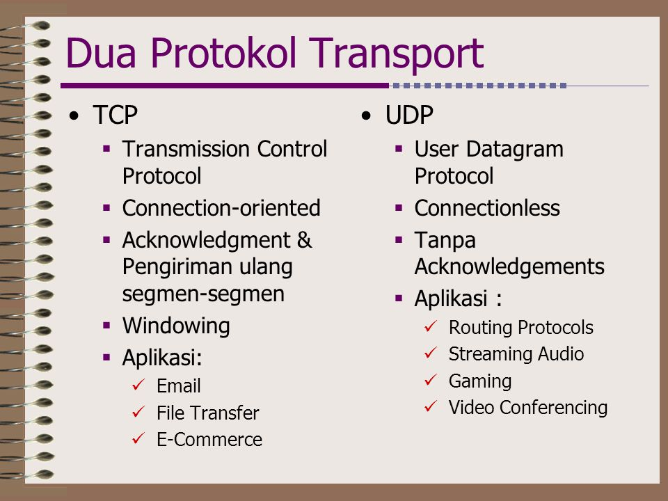 Dua Protokol Transport