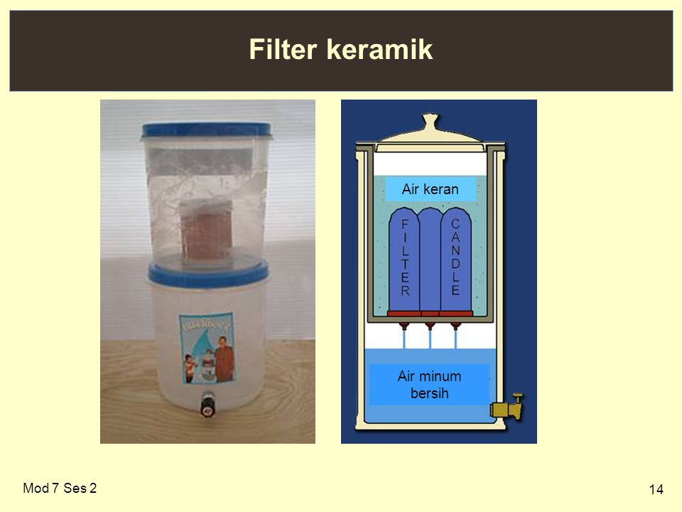 Filter keramik Air minum bersih Air keran Mod 7 Ses 2