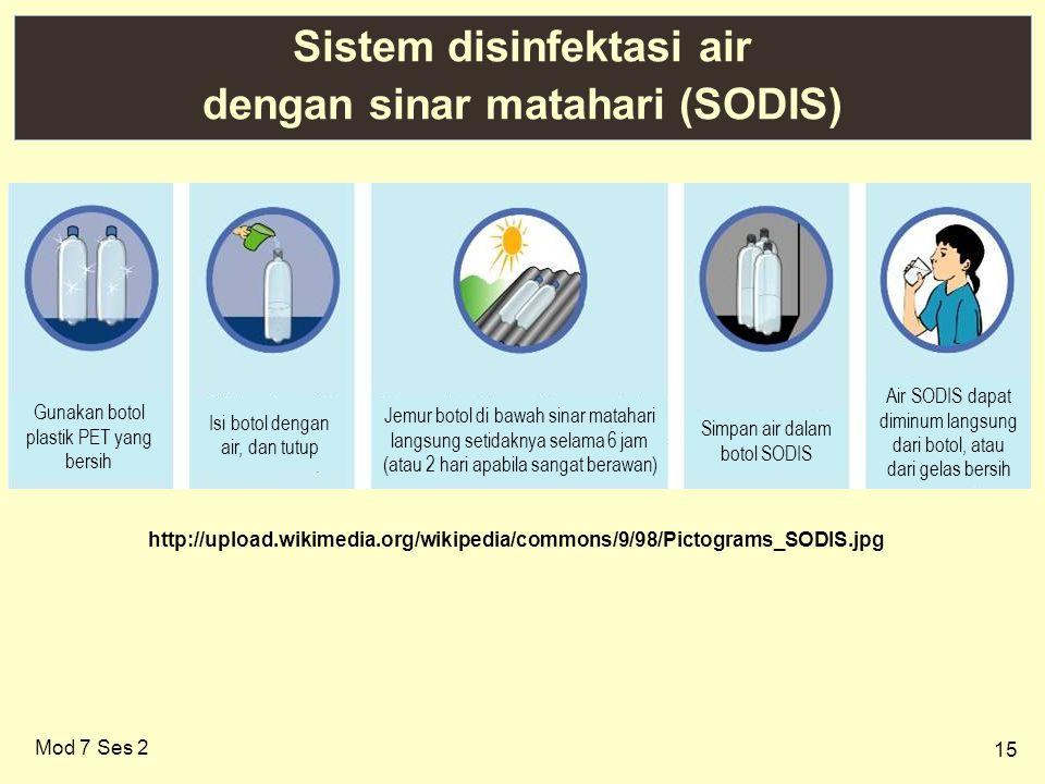 Sistem disinfektasi air dengan sinar matahari (SODIS)