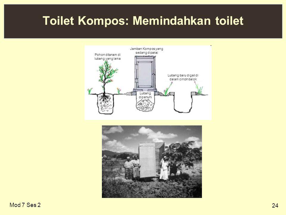 Toilet Kompos: Memindahkan toilet