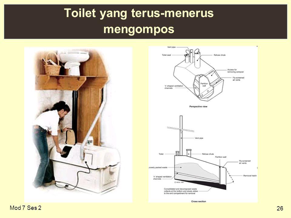 Toilet yang terus-menerus mengompos