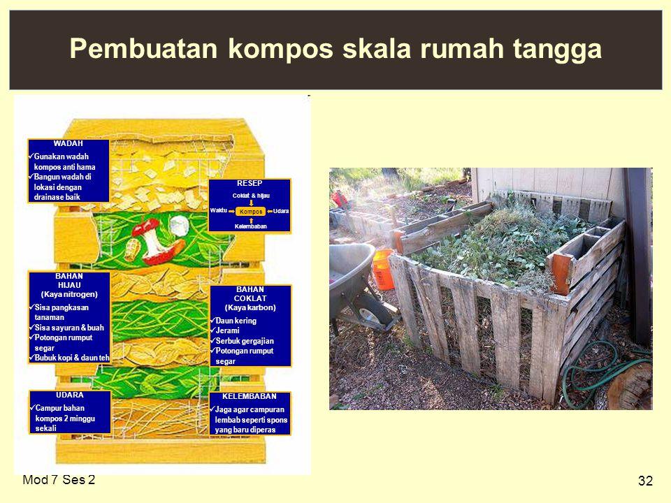 Pembuatan kompos skala rumah tangga
