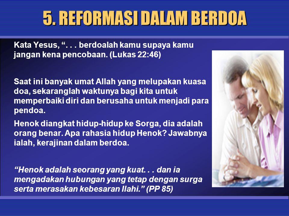 5. REFORMASI DALAM BERDOA