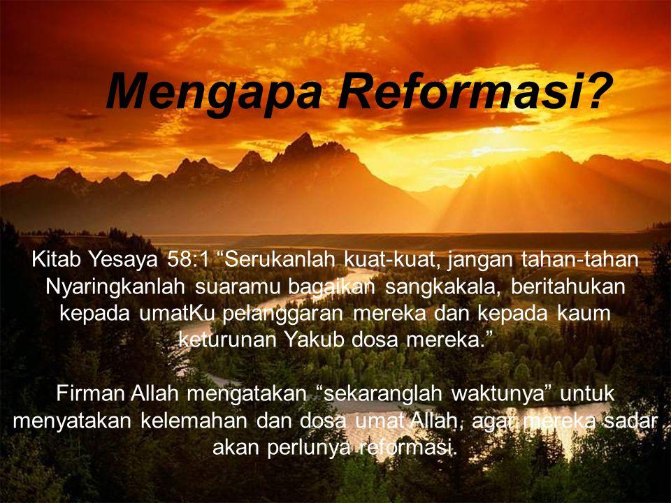 Mengapa Reformasi