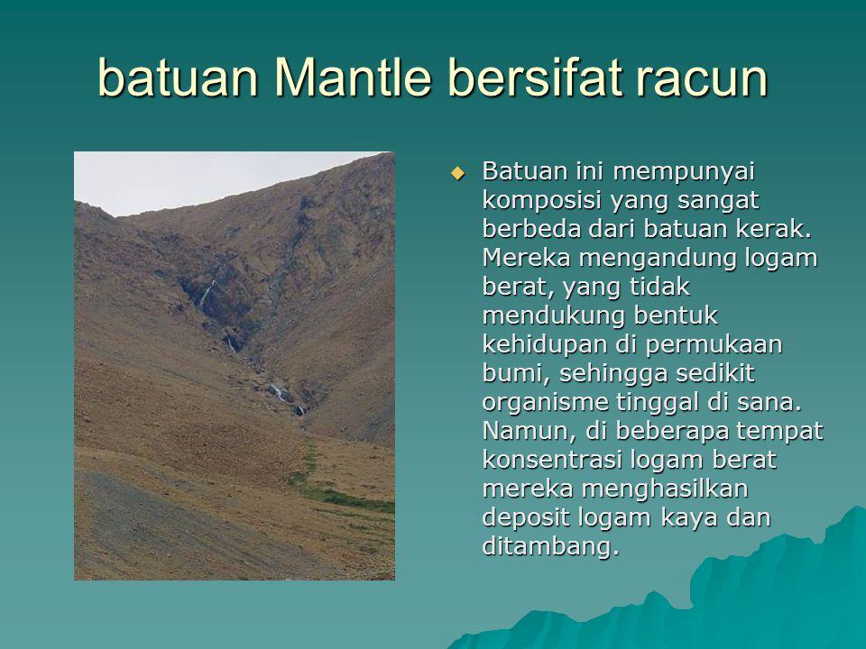 batuan Mantle bersifat racun