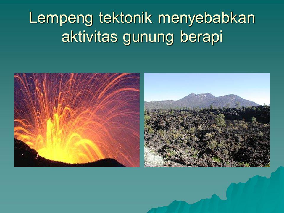 Lempeng tektonik menyebabkan aktivitas gunung berapi
