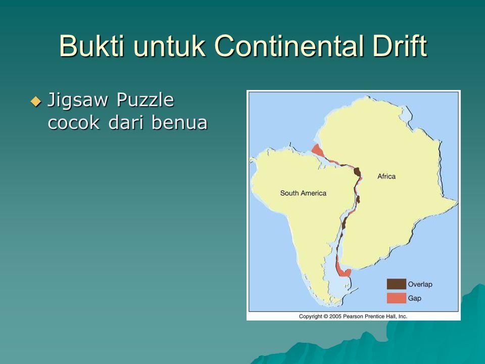 Bukti untuk Continental Drift