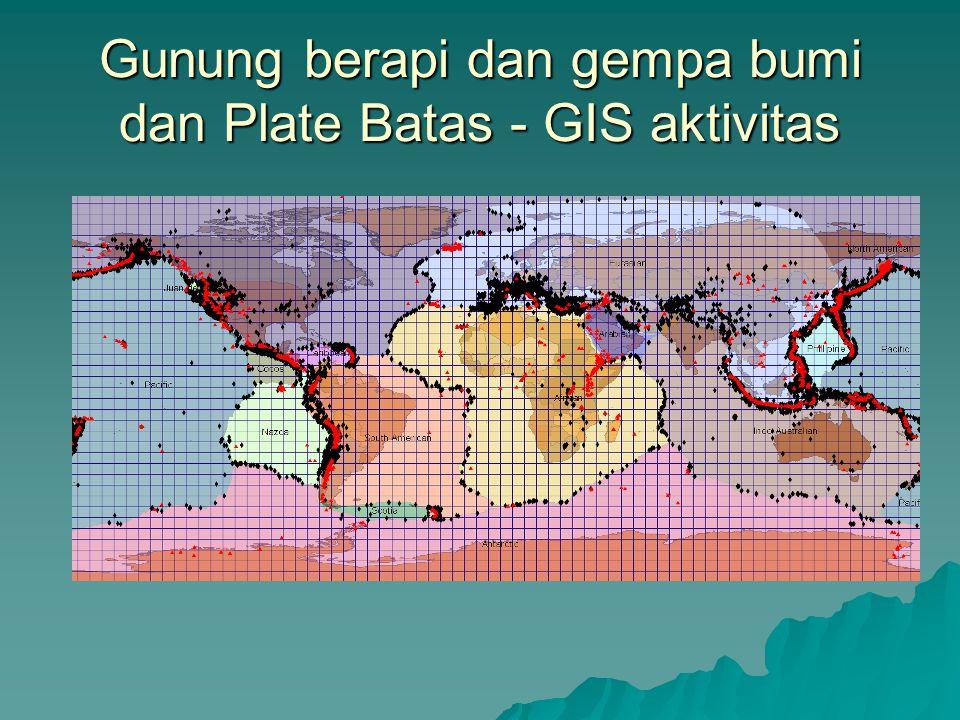 Gunung berapi dan gempa bumi dan Plate Batas - GIS aktivitas