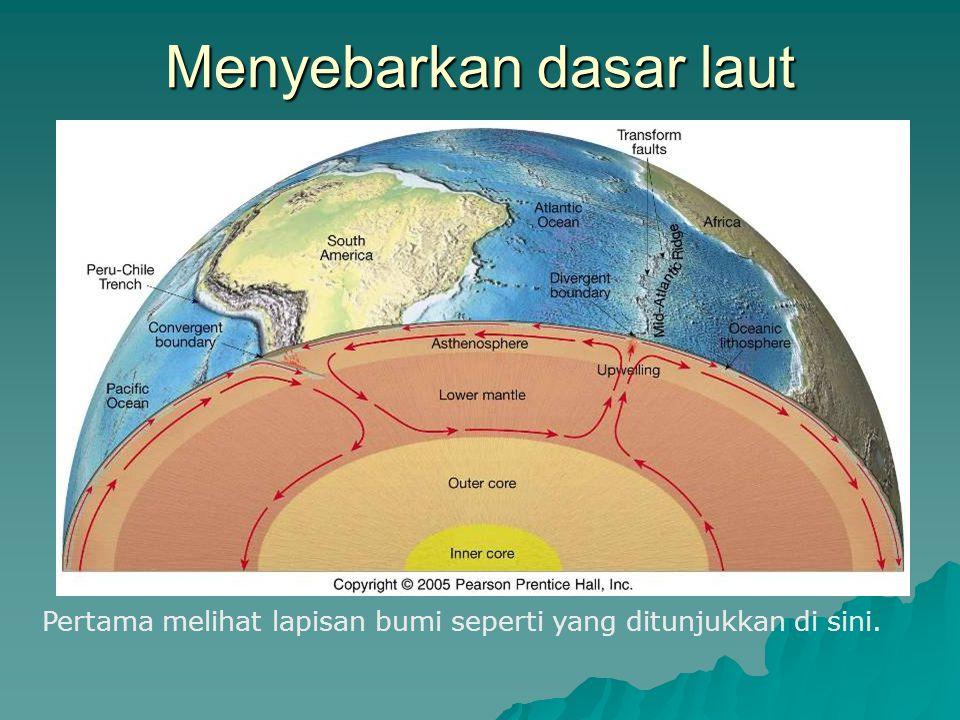 Menyebarkan dasar laut