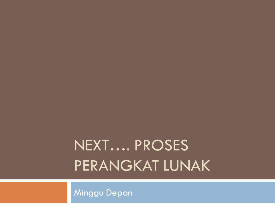 Next…. Proses Perangkat Lunak