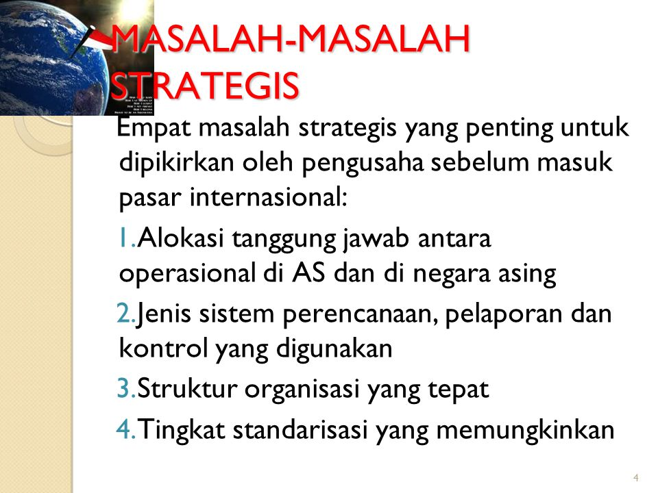 MASALAH-MASALAH STRATEGIS