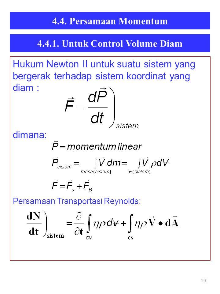 4.4.1. Untuk Control Volume Diam