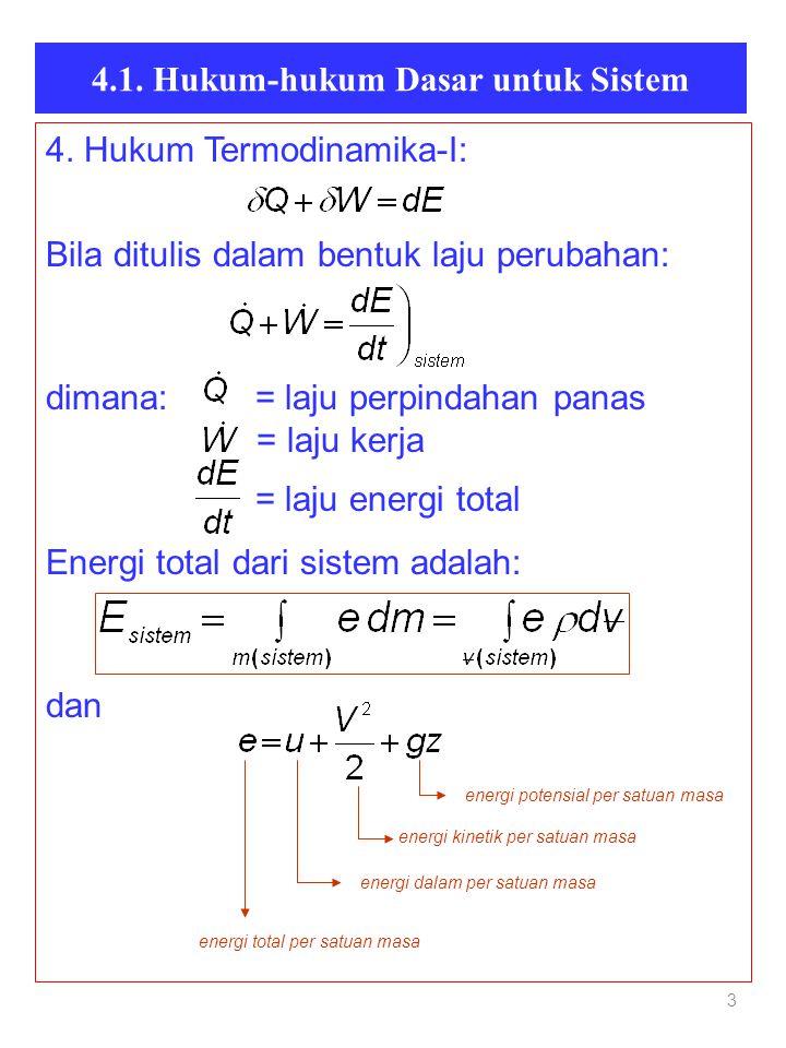 4.1. Hukum-hukum Dasar untuk Sistem