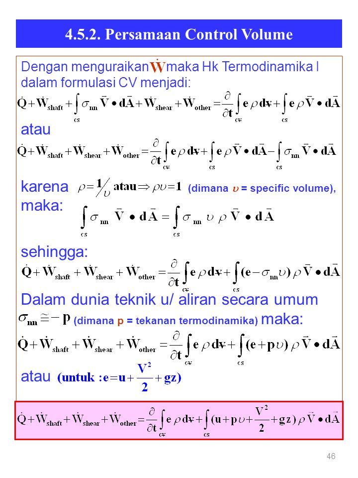 4.5.2. Persamaan Control Volume
