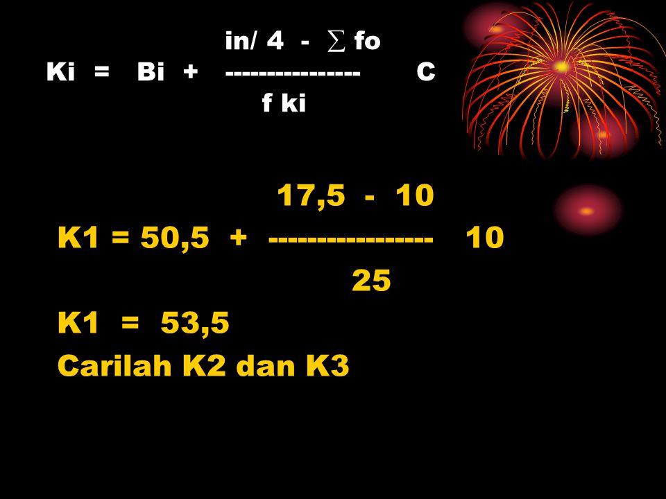 in/ 4 -  fo Ki = Bi + ---------------- C f ki