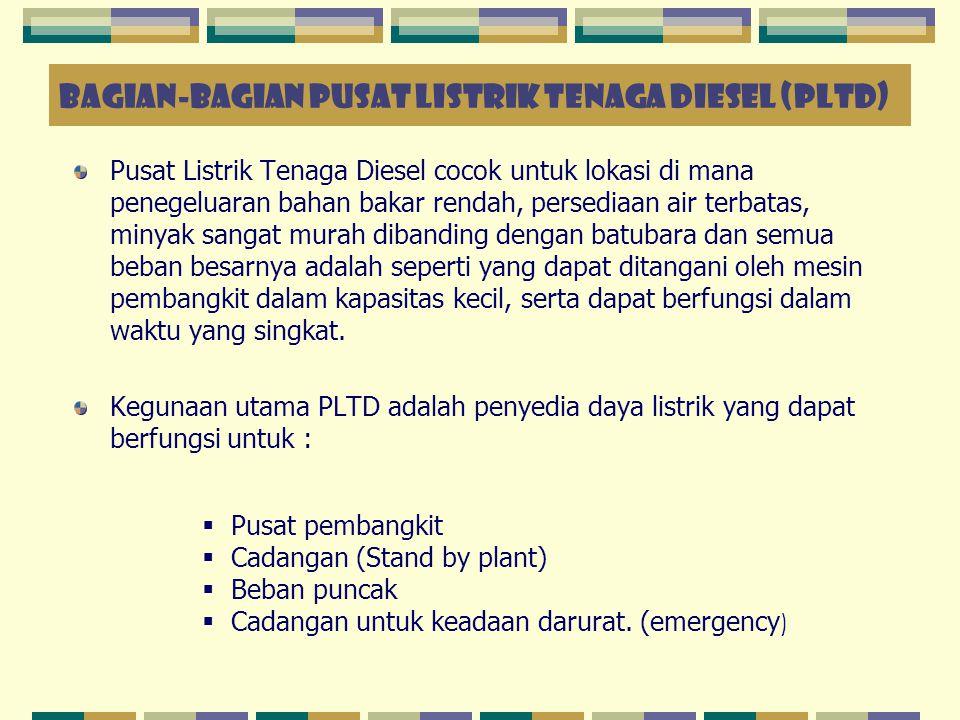 BAGIAN-BAGIAN PUSAT LISTRIK TENAGA DIESEL (PLTD)