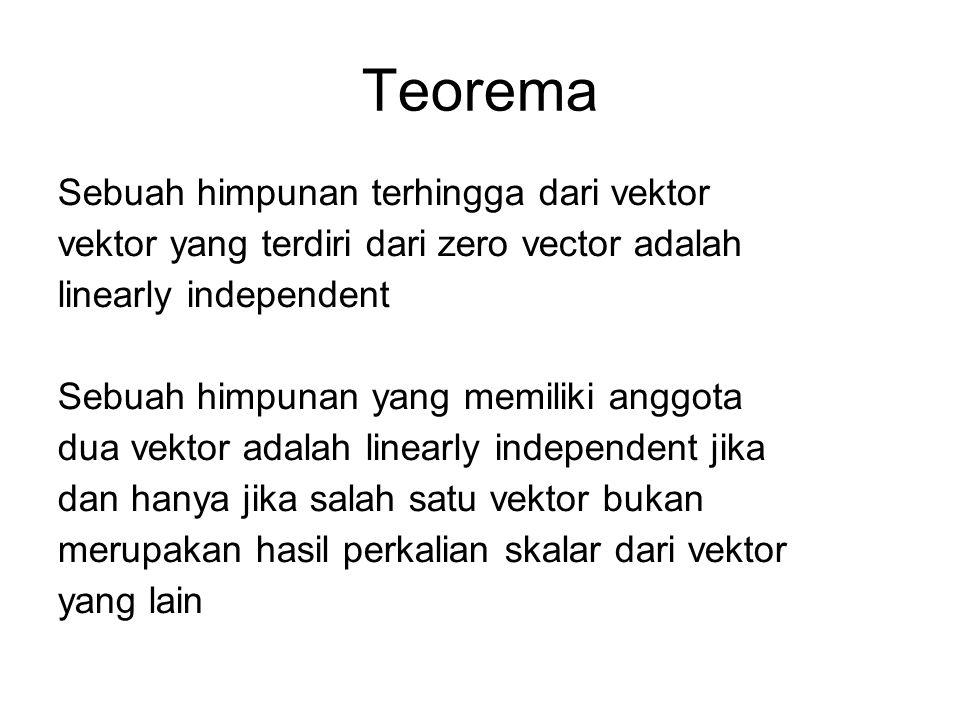 Teorema Sebuah himpunan terhingga dari vektor