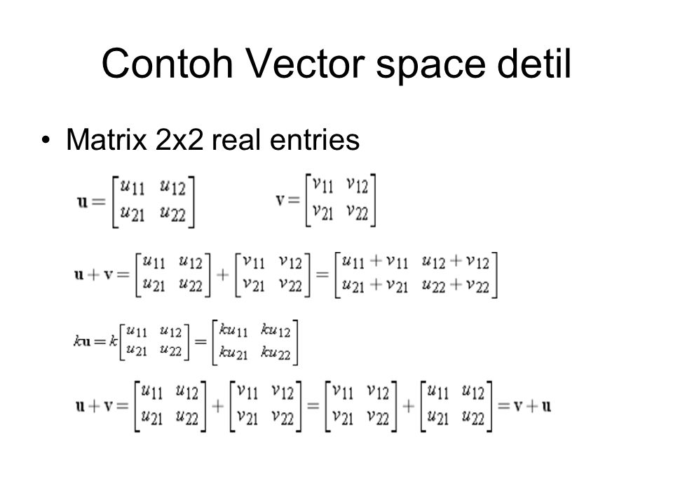 Contoh Vector space detil