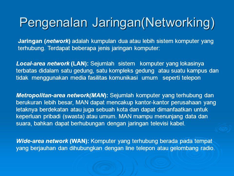 Pengenalan Jaringan(Networking)