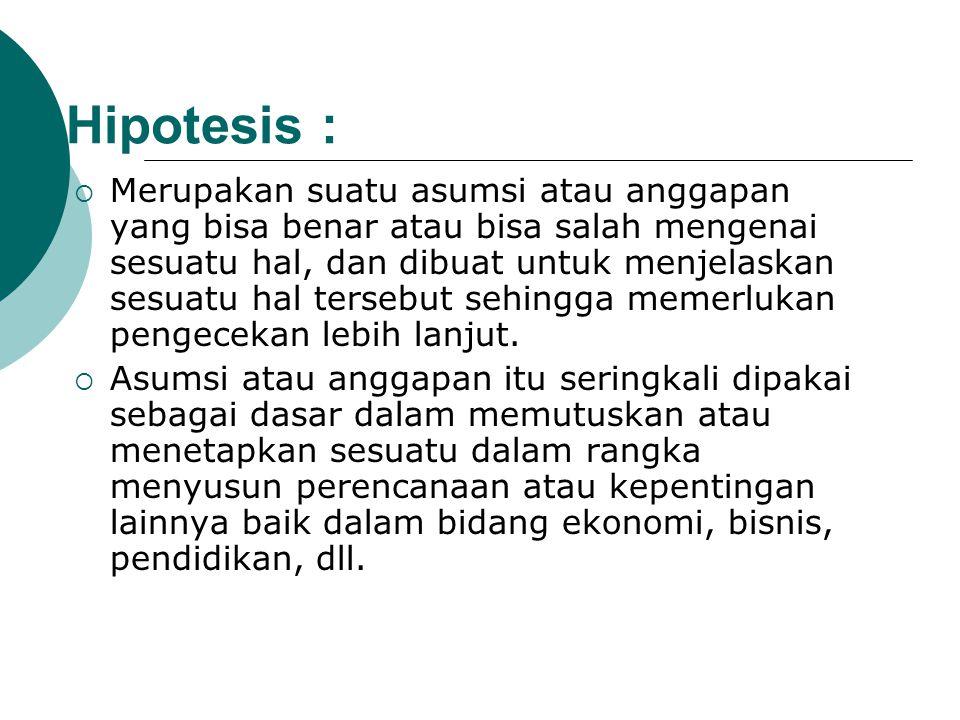 Hipotesis :