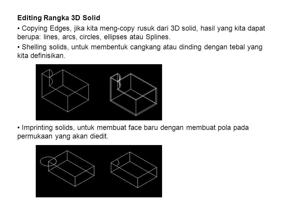 Editing Rangka 3D Solid