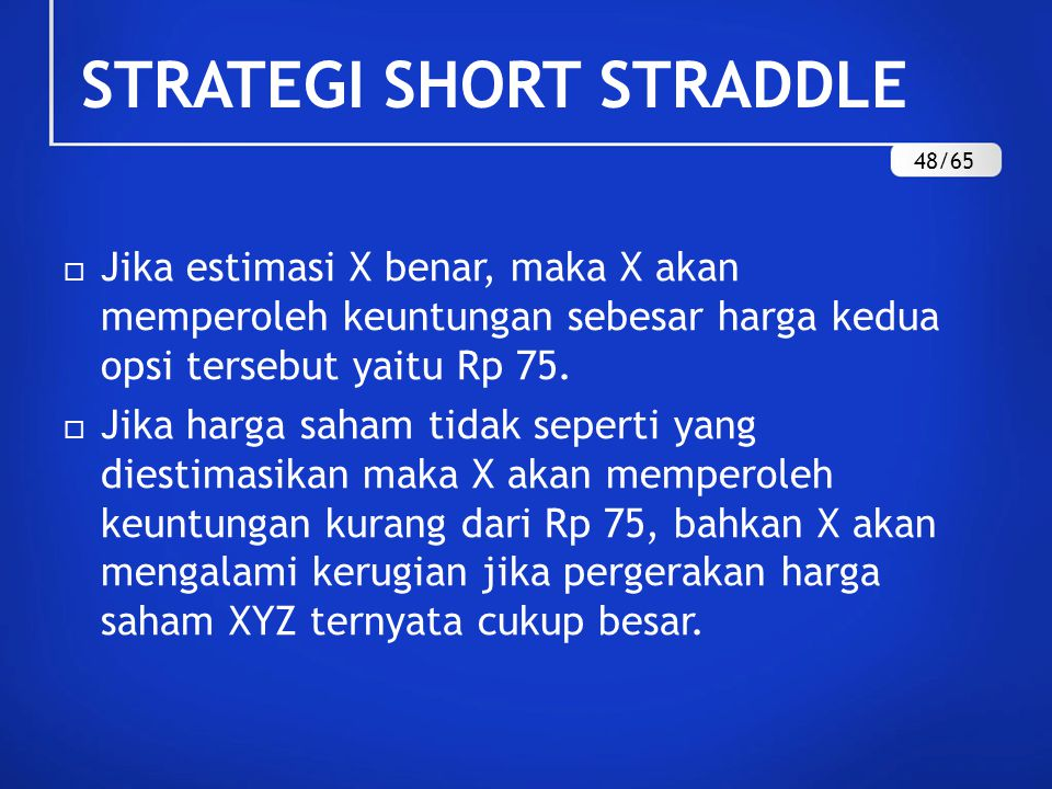 STRATEGI SHORT STRADDLE