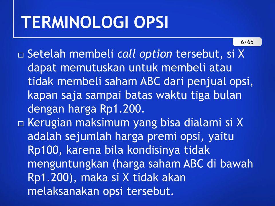 TERMINOLOGI OPSI 6/65.