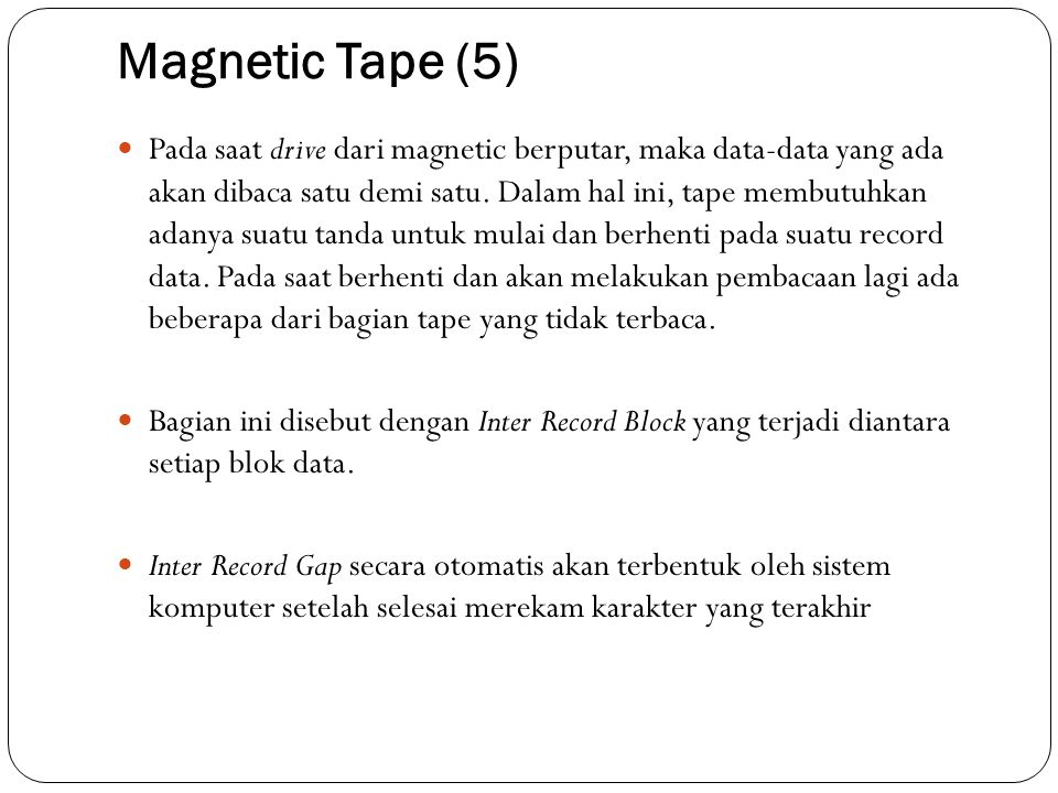 Magnetic Tape (5)
