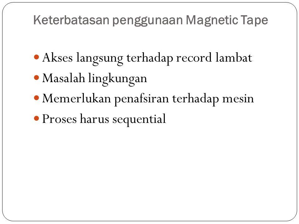 Keterbatasan penggunaan Magnetic Tape