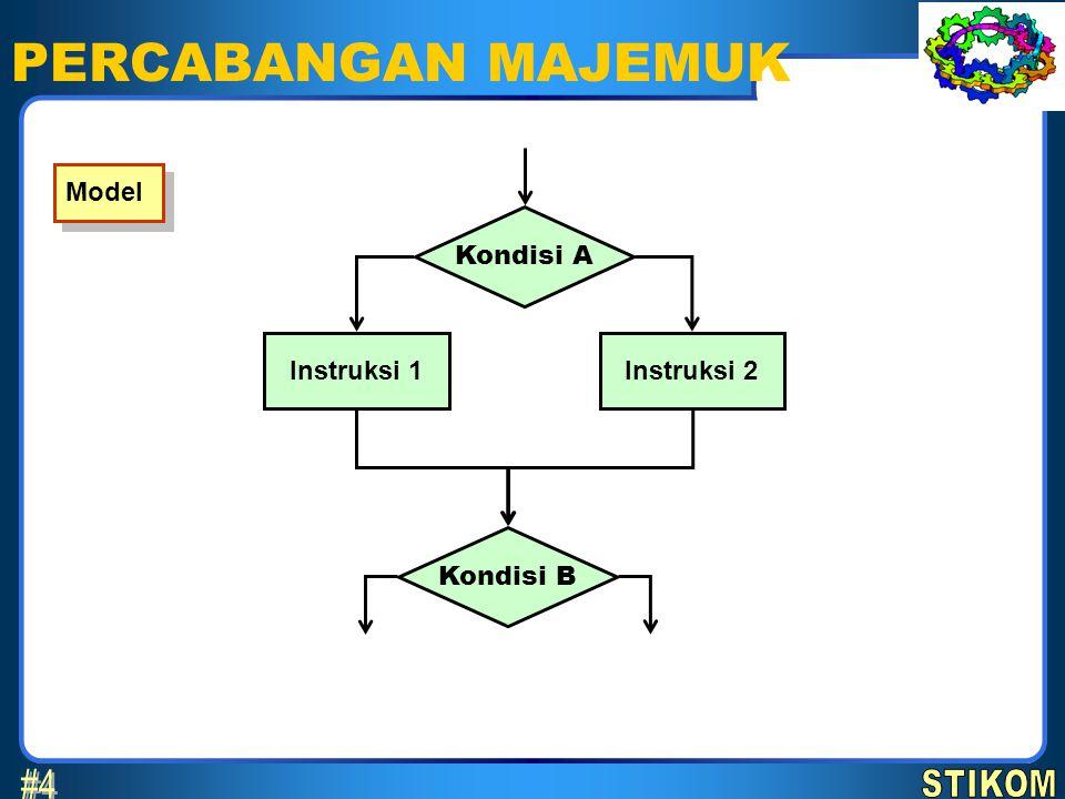 PERCABANGAN MAJEMUK #4 STIKOM Model Kondisi A Instruksi 1 Instruksi 2